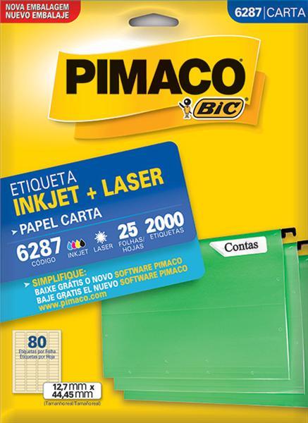 Etiqueta Inkjet/Laser Pimaco 6287 - 12,7 mm x 44,45 mm