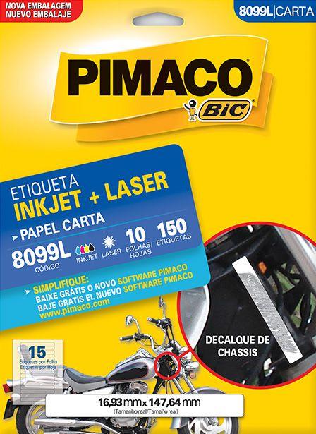 Etiqueta Inkjet/Laser Pimaco 8099L - 16,93 mm x 147,64 mm