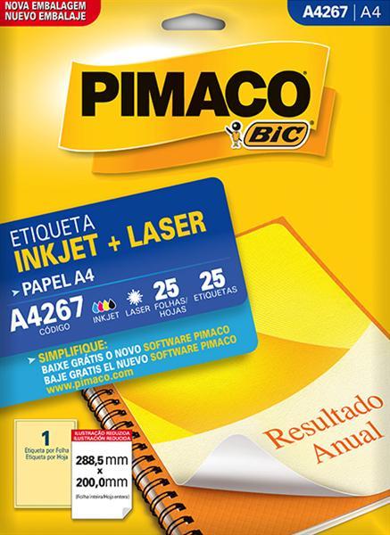 Etiqueta Inkjet/Laser Pimaco A4267 - 288,5 mm x 200 mm