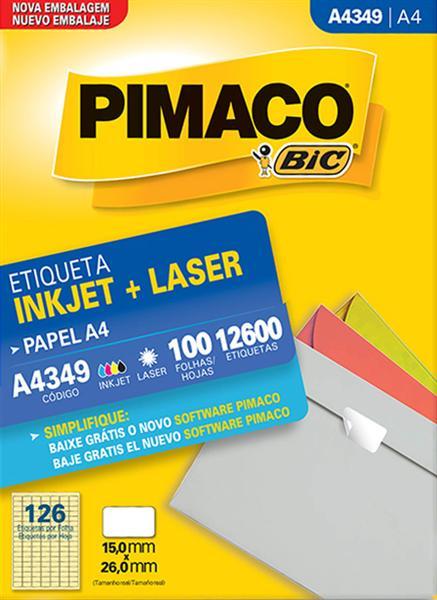 Etiqueta Inkjet/Laser Pimaco A4349 - 15 mm x 26 mm