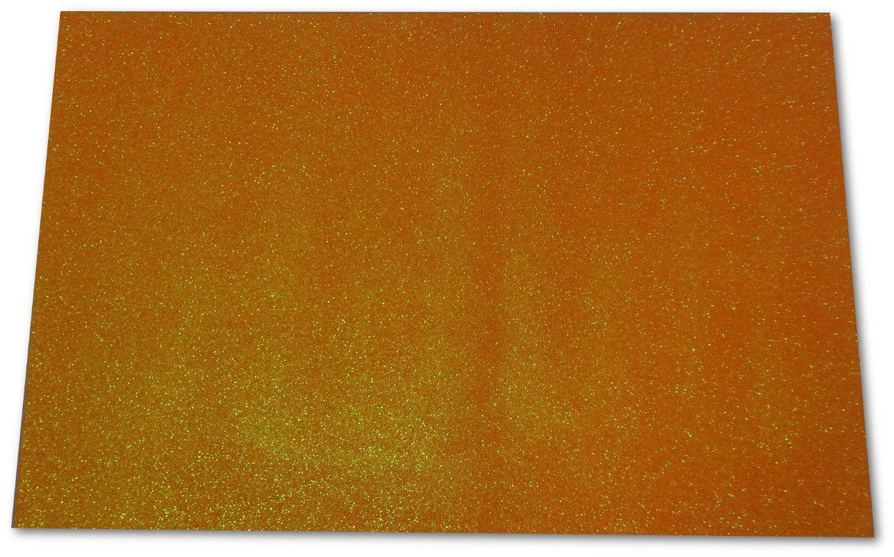 EVA com glitter 40x60 Dourado pacote com 5 folhas