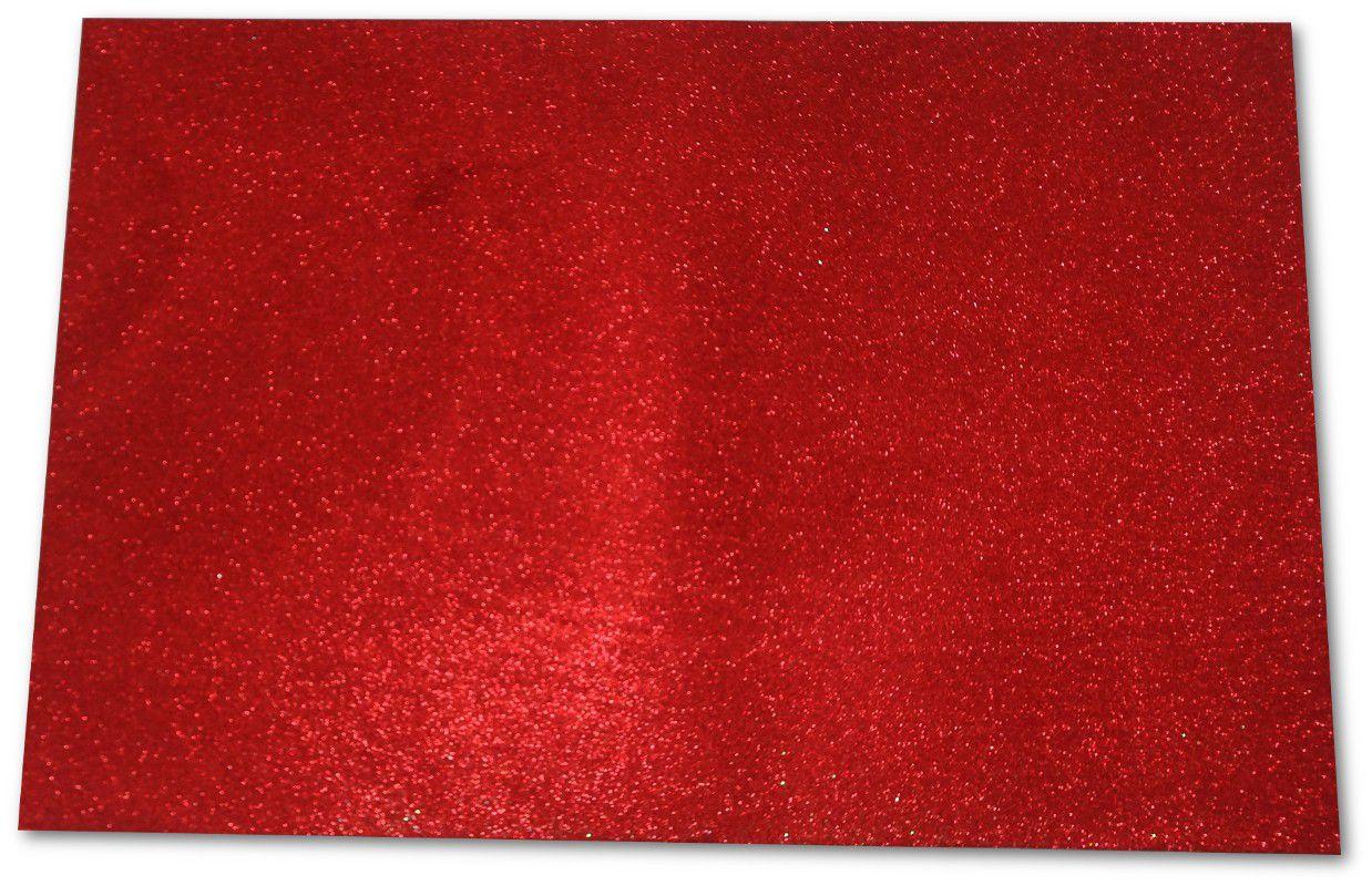EVA com glitter 40x60 Vermelho pacote com 5 folhas