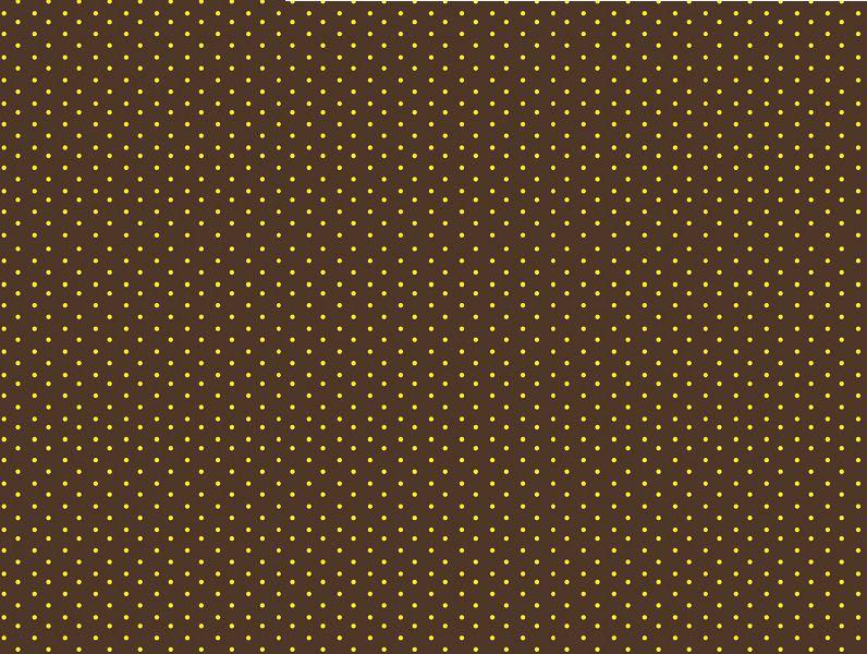 EVA Estampado 40x60 Poá Marrom com Amarelo Pacote Com 5 folhas Ref.4762