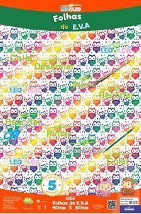 EVA Furta-cor 40x60 Coruja Com 5 folhas Ref.4760