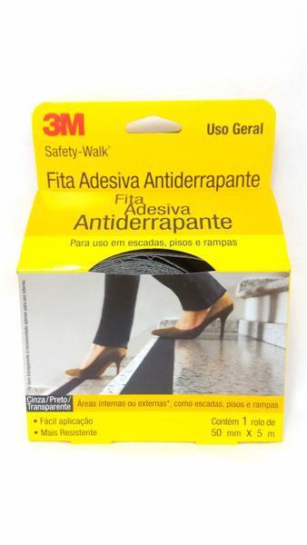 Fita Adesiva 3M Antiderrapante - Preto