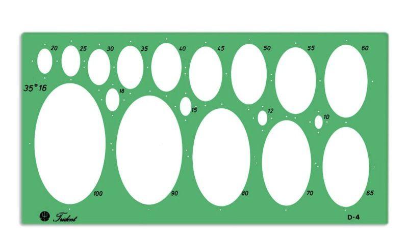 Gabarito Trident Desenho Elípses D-4