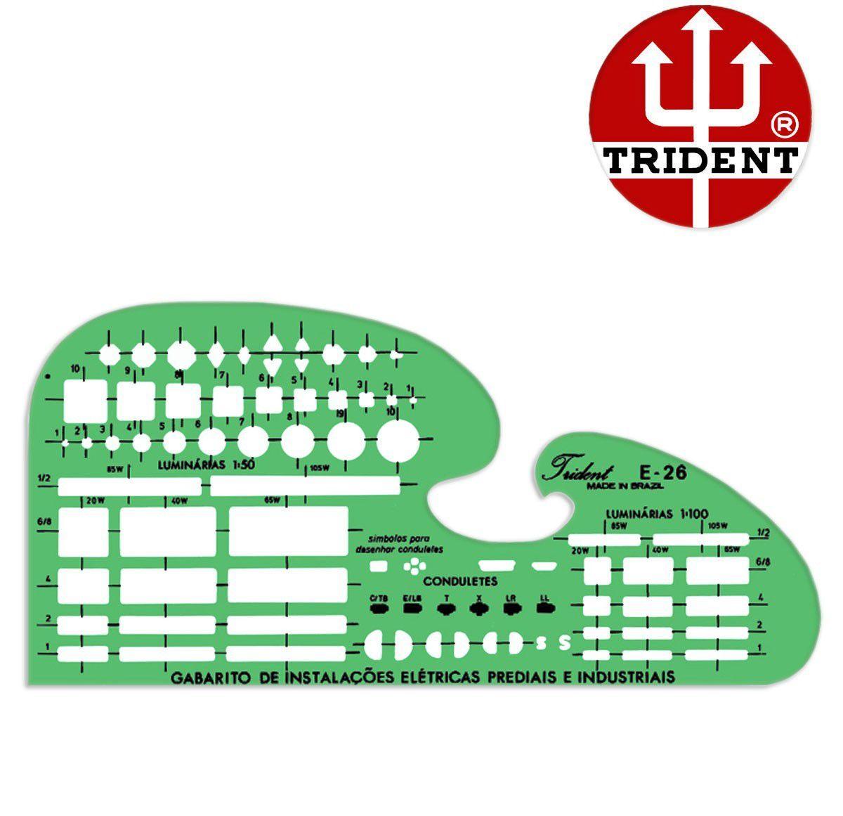 Gabarito Trident Desetec E-26