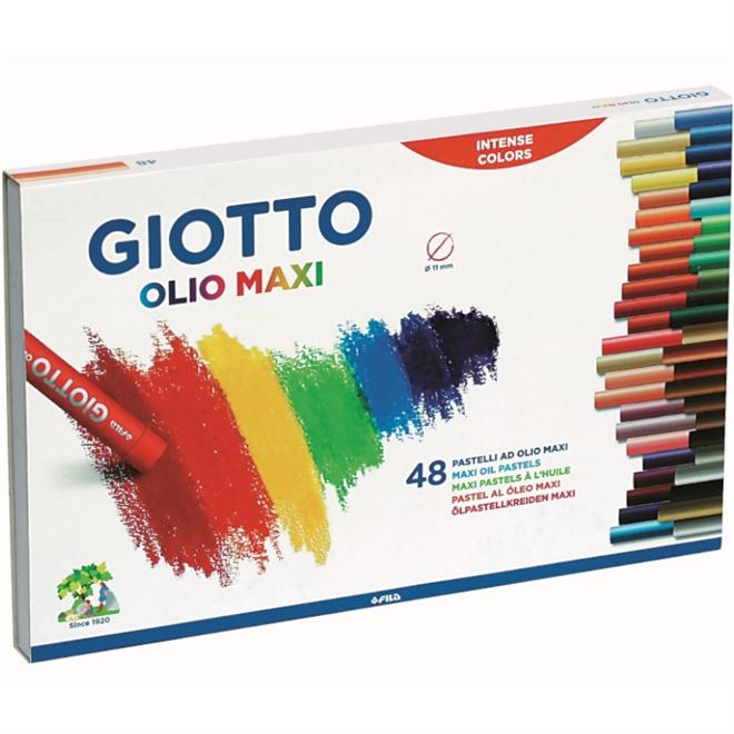Giz Pastel Oleoso Giotto 11mm - 48 Cores