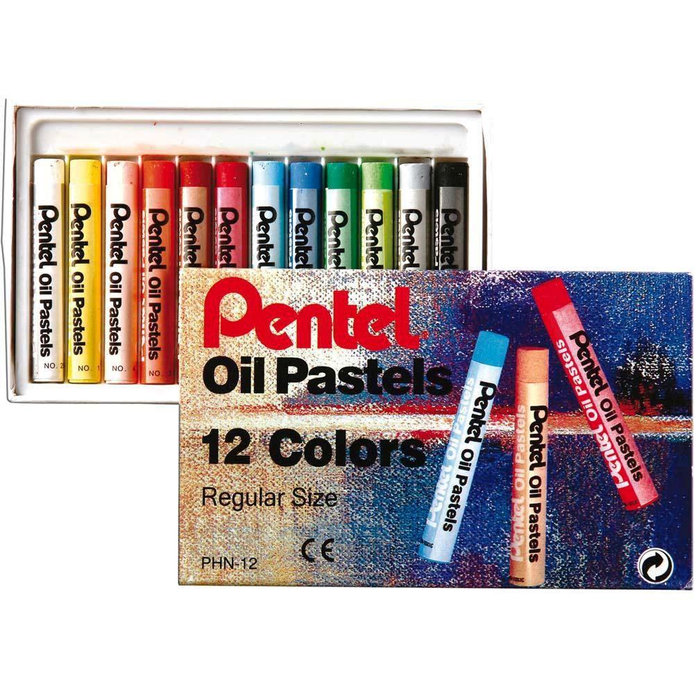 Giz Pastel Oleoso Pentel 12 Cores PHN-12
