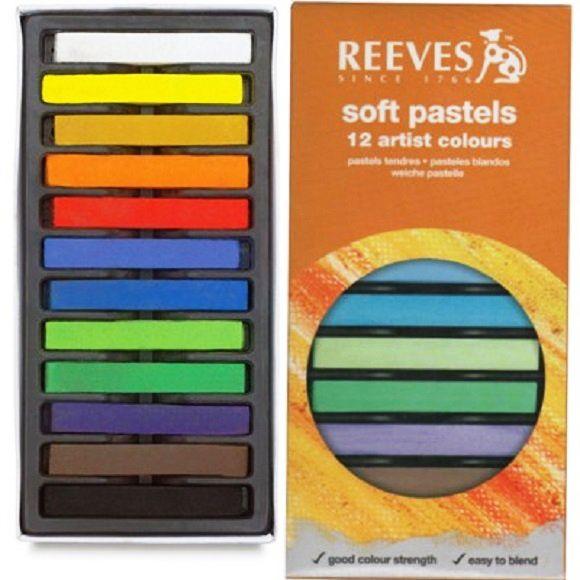 Giz Pastel Seco Reeves 12 Cores 8790125