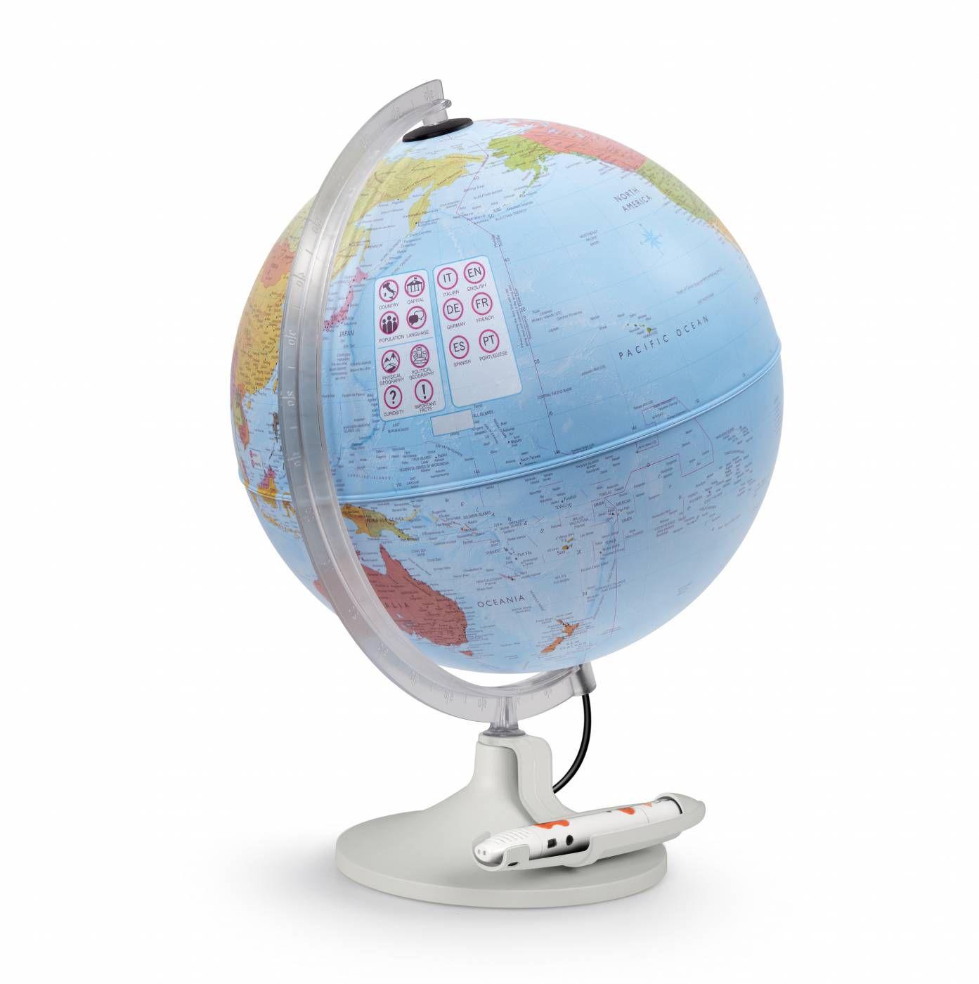 Globo geográfico Tecnodidattica Parlamondo