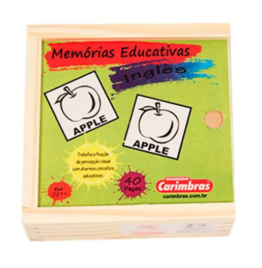 Jogo Memória Educativa Inglês Carimbras Ref. 0271