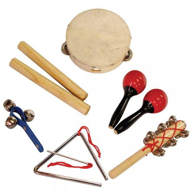 Kit de Percussão Com 6 Mini Instrumentos Shiny Music