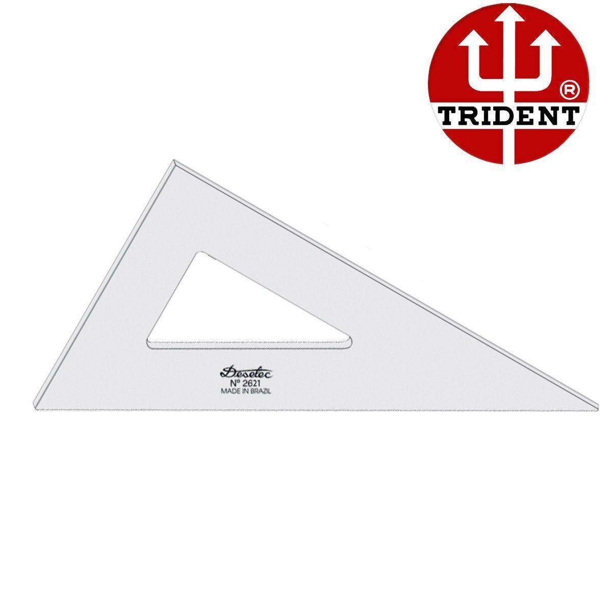 Kit Esquadros de Acrílico Trident 21cm - SEM ESCALA - REF.2521 e 2621