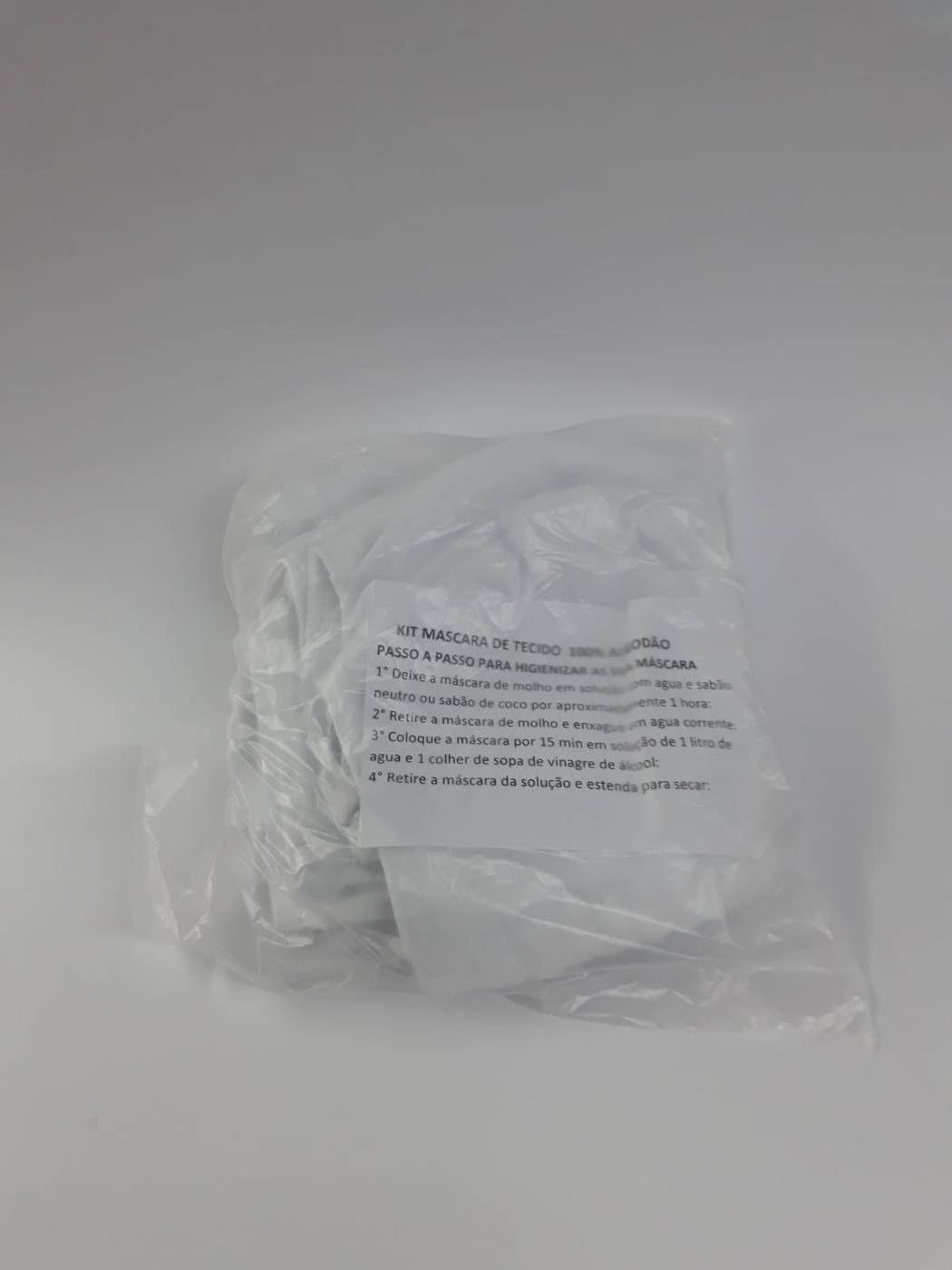 Kit Máscara de Tecido 100% Algodão c/10 unidades.