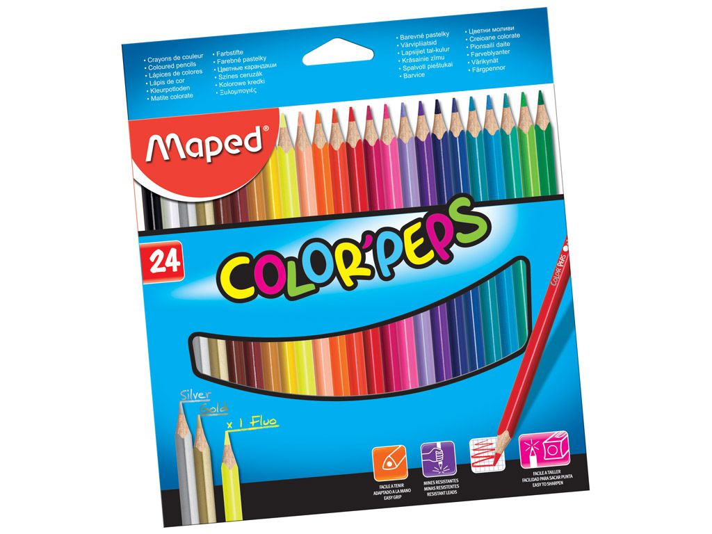 Lápis de cor 24 cores Maped Color Peps