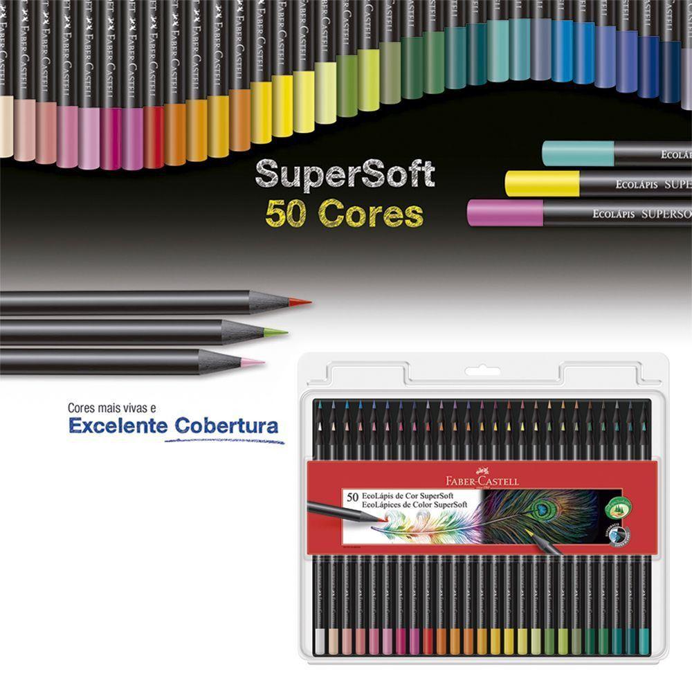 Lápis De Cor Faber Castell 50 Cores Super Soft 120750SOFT