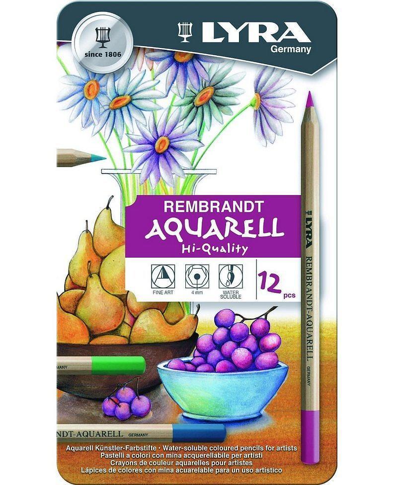 Lapis de cor Lyra Rembrandt Aquarell caixa c/12 cores
