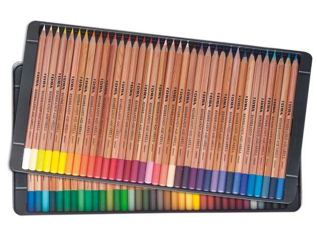 Lapis de cor Lyra Rembrandt Aquarell caixa c/72 cores