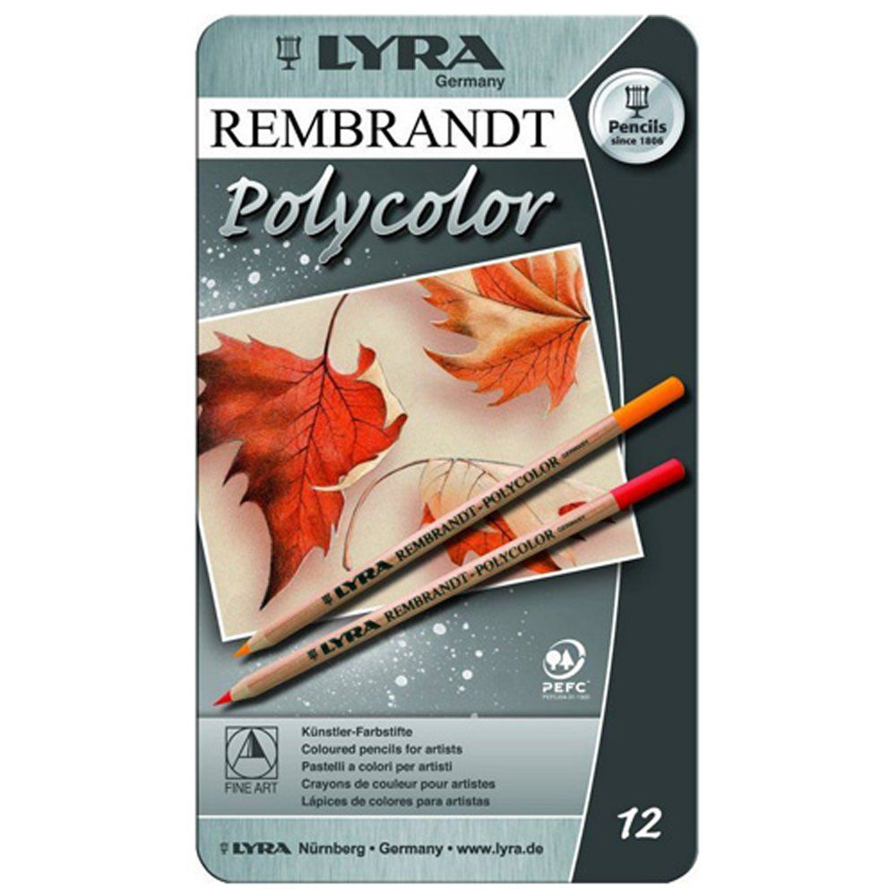 Lapis de cor Lyra Rembrandt Polycolor caixa c/12 cores