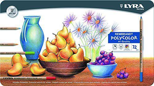 Lapis de cor Lyra Rembrandt Polycolor caixa c/72 cores