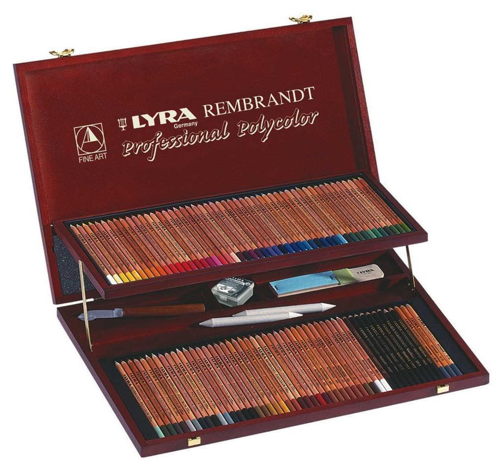 Lapis de cor Lyra Rembrandt Polycolor estojo c/100 cores