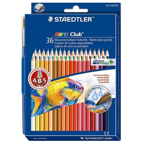 Lápis de Cor Staedtler Noris Club 36 Cores Aquarelável 144 10ND36