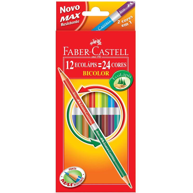 Lapis Faber-Castell 12 EcoLápis Bicolor 120612+2N