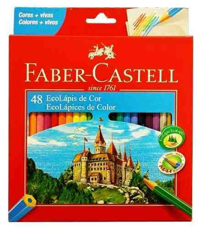 Lapis Faber-Castell Sextavado 48 EcoLápis de Cor 120148