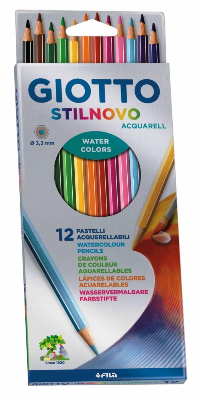 Lápis Giotto Stilnovo Aquarelável 12 Cores