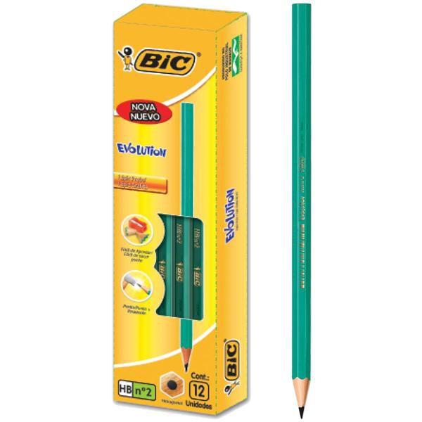 Lápis Grafite Nº2 BIC Evolution HB COM 12 UNIDADES