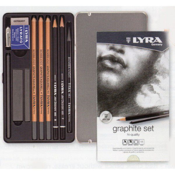 Lapis Lyra Rembrandt Graphite set 11 peças