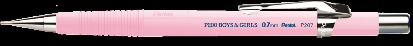 Lapiseira Pentel P207 0.7 mm Cores Pasteis