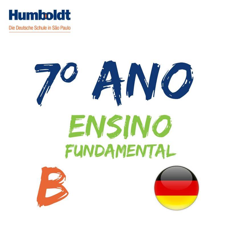 Lista do Sétimo Ano Ensino Fundamental B Alemão / 7. Schuljahr B