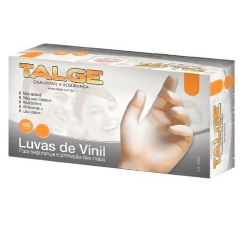 Luvas de Vinil M Talge com pó 100 unds.