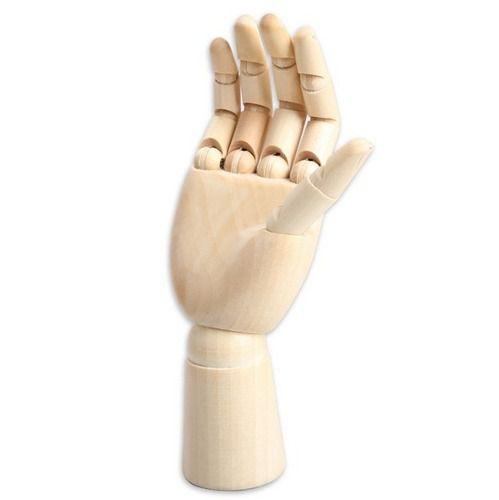 Mão Articulada em Madeira Direita 30 cm Sinoart - SFM038