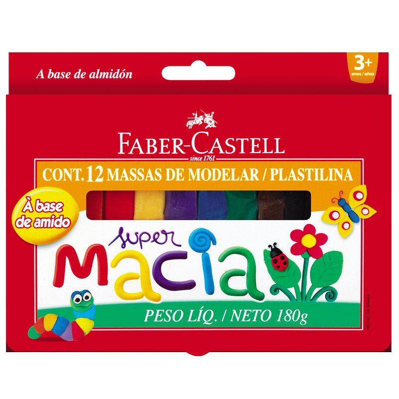 Massinha Modelar Faber-Castell Super Macia 12cores 22.0212MM