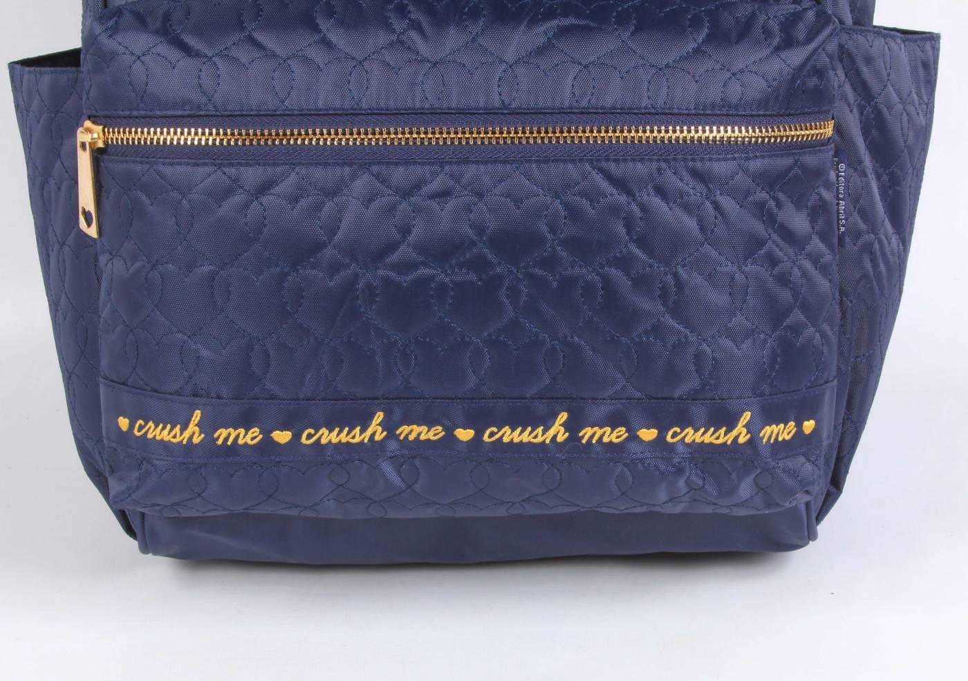 Mochila DMW Capricho Corações 11345 - Azul Marinho