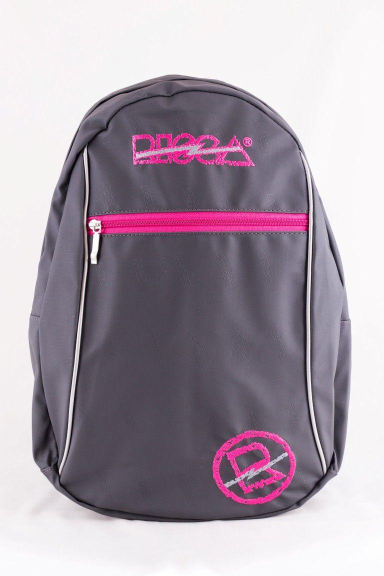 Mochila Risca Emborrachada Chumbo/Pink 9059