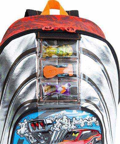 Mochilete Grande Sestini Hot Wheels 17Y 064524
