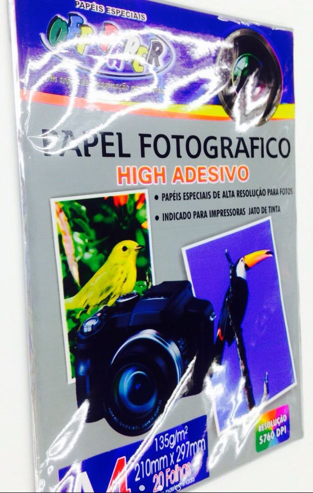 Papel Fotográfico Adesivo Off Paper A4 - 20 folhas