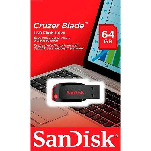 Pen Drive 64GB SanDisk Cruzer Blade