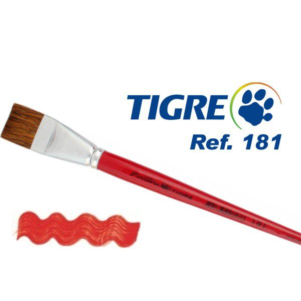 Pincel Tigre Chato Reto 181 04 Orelha de Boi