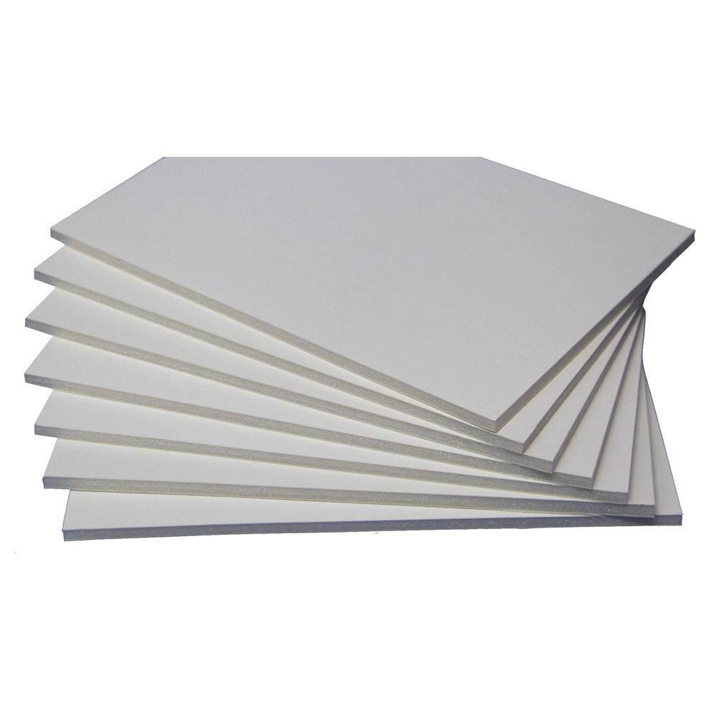 Placa Foam Board Paper A3 5 mm x 297 mm x 420 mm  Pacote com 25 - Branca