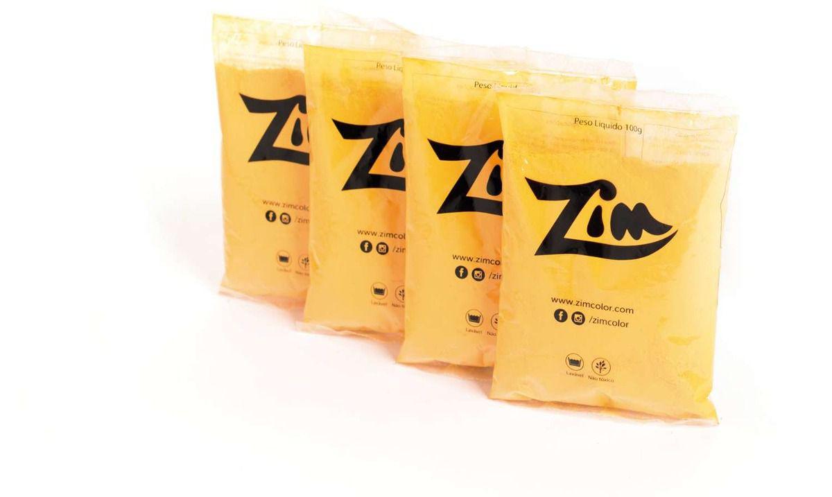Pó Colorido Zim Saco C/ 100 gr - Amarelo