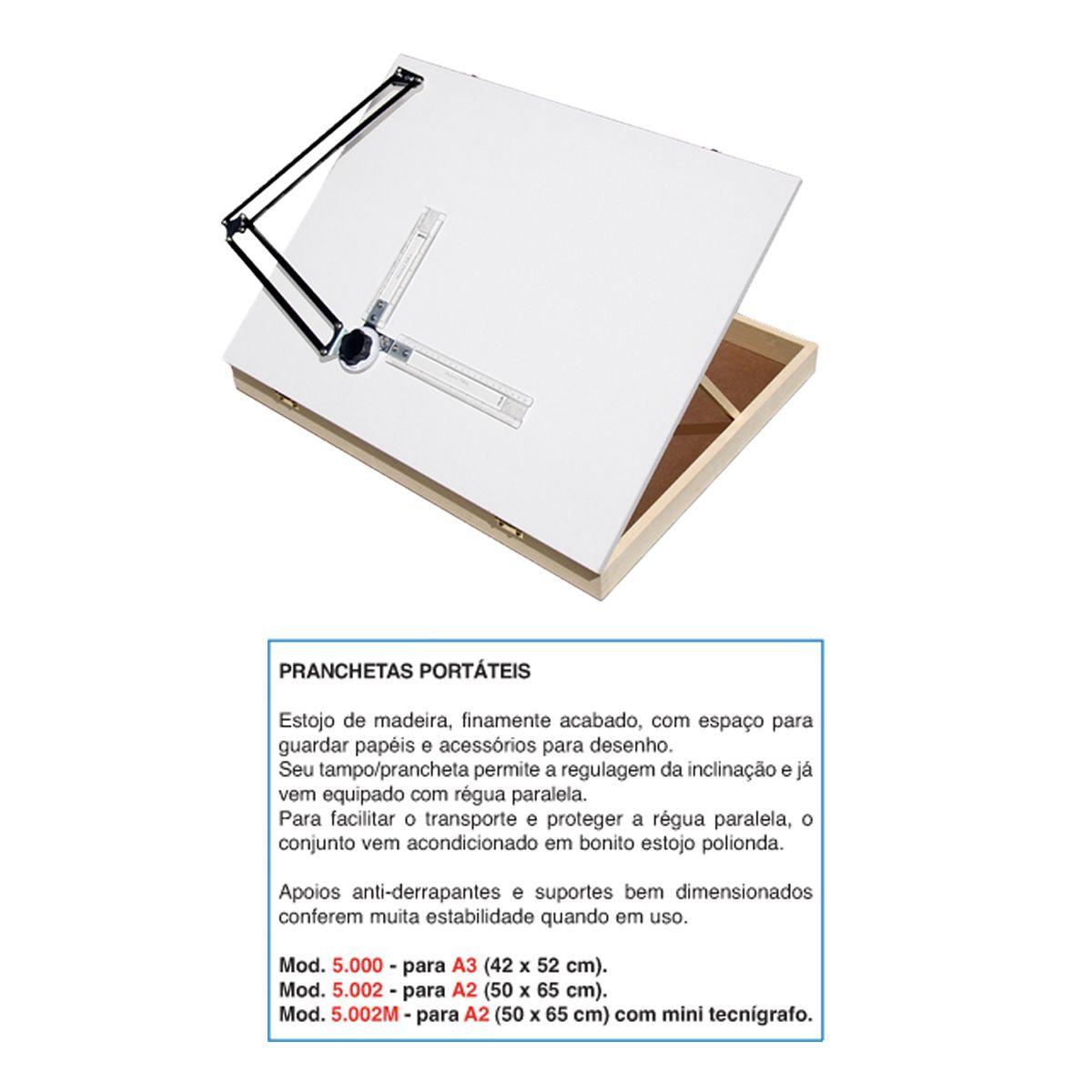 Prancheta Portátil Trident c/ Mini Tecnígrafo A2 5002M