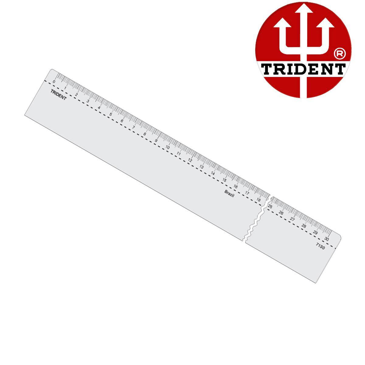 Régua de Acrílico Trident 40cm  Ref.7140