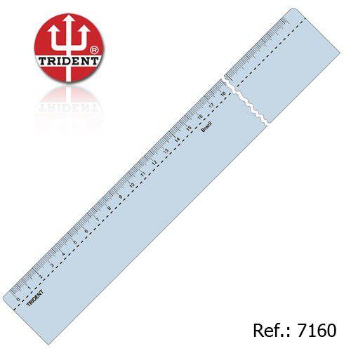 Régua de Acrílico Trident 60cm - com Escala (mm) - Ref.7160/AC-60