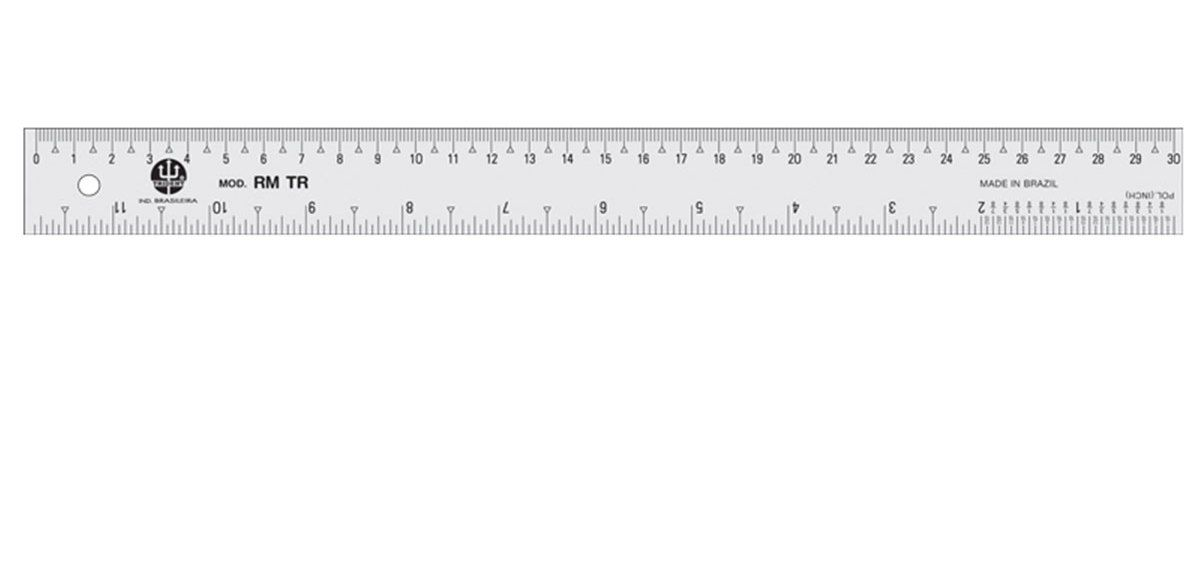 Régua Molegata Trident 30cm RM-TR