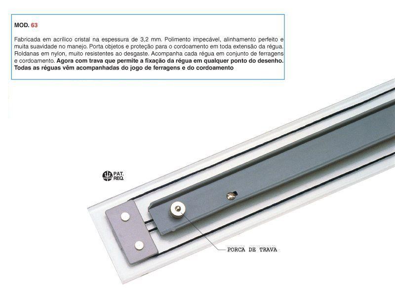 Régua Paralela Acrílico Trident 80 cm 6308